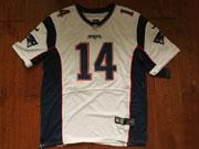 Mens   New England Patriots #14 Brandin Cooks White Elite Jersey