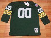 Mens Nfl Green Pay Packers Custom Made Green Throwbacks Long Sleeve Jersey