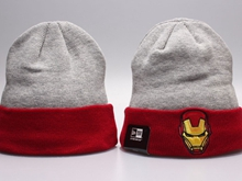 Cartoon Beanies Gray & Red Winter Knitted Snapback Hats
