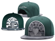 New Mens Nba Boston Celtics Green Mitchell&ness Snapback Hats