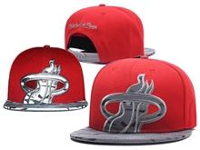 New Mens Nba Miami Heater Red Mitchell&ness Snapback Hats