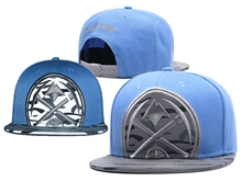 New Mens Nba Denver Nuggets Blue Mitchell&ness Snapback Hats