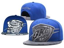 New Mens Nba Oklahoma City Thunder Blue Mitchell&ness Snapback Hats
