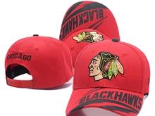 Mens Nhl Chicago Blackhawks Red Peaked Caps