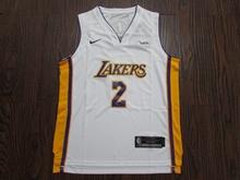 Youth Nba Los Angeles Lakers #2 Lonzo Ball White Swingman Nike Jersey