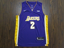 Youth Nba Los Angeles Lakers #2 Lonzo Ball Pruple Nike Jersey