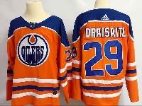 Mens Adidas Nhl Edmonton Oilers #29 Leon Draisaitl Orange Jersey