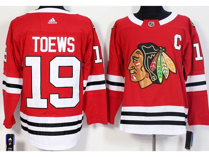 Mens Adidas Nhl Chicago Blackhawks #19 Jonathan Toews Red Jersey
