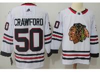 Mens Nhl Chicago Blackhawks #50 Corey Crawford White Adidas Jersey