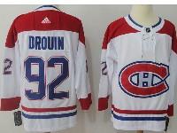 Mens Montreal Canadiens #92 Jonathan Drouin White Away Adidas Jersey