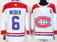 Mens Montreal Canadiens #6 Shea Weber White Away Adidas Jersey