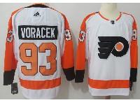 Mens Philadelphia Flyers #93 Jakub Voracek White Away Adidas Jersey