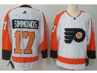 Mens Philadelphia Flyers #17 Wayne Simmonds White Away Adidas Jersey