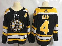 Mens Nhl Boston Bruins #4 Bobby Orr Black Home Adidas Jersey