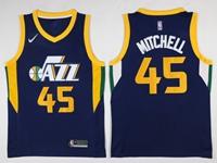Mens Nba Utah Jazz #45 Donovan Mitchell Dark Blue Nike Jersey