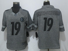 Mens Nfl Pittsburgh Steelers #19 Smith-schuster Gray Stitched Gridiron Nike Limited Jersey