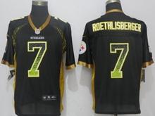 New Mens Pittsburgh Steelers #7 Ben Roethlisberger Drift Fashion Black Nike Elite Jersey