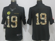 Mens Nfl Pittsburgh Steelers #19 Smith-schuster Black Salute To Service Nike Limited Jersey