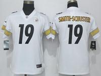 Women Nfl Pittsburgh Steelers #19 Smith-schuster White Vapor Untouchable Elite Player Jersey