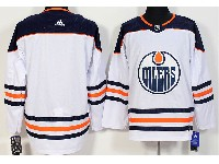 Mens Nhl Edmonton Oilers Blank White Adidas Jersey