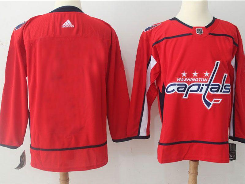 Mens Nhl Washington Capitals Blank Red Adidas Jersey