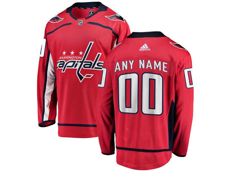 Mens Nhl Washington Capitals Custom Made Red Adidas Jersey