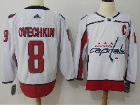 Mens Nhl Washington Capitals #8 Alexander Ovechkin White Adidas Jersey