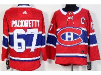 Mens Montreal Canadiens #67 Max Pacioretty (c) Red Home Adidas Jersey