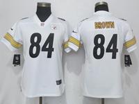 Women Nfl Pittsburgh Steelers #84 Antonio Brown White Vapor Untouchable Elite Player Jersey