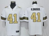 Mens New Orleans Saints #41 Alvin Kamara White Color Rush Limited Nike Jersey