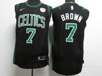 Mens Nba Boston Celtics #7 Jaylen Brown Black Nike Player Jersey