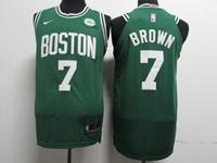 Mens Nba Boston Celtics #7 Jaylen Brown Green Nike Player Jersey