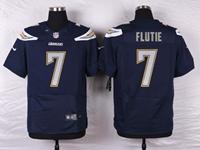 Mens Nfl Los Angeles Chargers #7 Doug Flutie Navy Blue Elite Nike Jersey