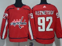 Mens Nhl Washington Capitals #92 Evgeny Kuznetsov Red Adidas Jersey