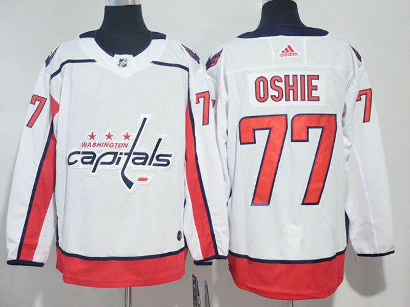 Mens Nhl Washington Capitals #77 T. J. Oshie White Adidas Jersey