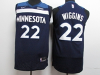 17-18 New Mens Nba Minnesota Timberwolves #22 Andrew Wiggins Blue Nike Jersey