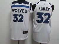 17-18 New Mens Nba Minnesota Timberwolves #32 Karl-anthony Towns White Nike Jersey
