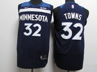 17-18 New Mens Nba Minnesota Timberwolves #32 Karl-anthony Towns Blue Nike Jersey