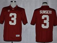 Mens Ncaa Nfl Alabama Crimson #3 Vinnie Sunseri Red Sec Jersey