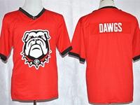 Mens Ncaa Nfl Georgia Bulldogs Dawgs Red Blank Fashion Jersey