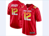 Mens Afc Nfl New England Patriots #12 Tom Brady Red 2018 Pro Bowl Game Nike Jersey
