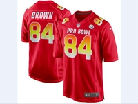 Mens Afc Nfl Pittsburgh Steelers #84 Antonio Brown Red 2018 Pro Bowl Game Nike Jersey