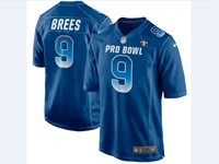 Mens Nfc Nfl New Orleans Saints #9 Drew Brees Blue 2018 Pro Bowl Game Nike Jersey