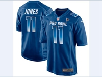 Mens Nfc Nfl Atlanta Falcons #11 Julio Jones Blue 2018 Pro Bowl Game Nike Jersey