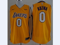 2017-18 New Mens Nba Los Angeles Lakers #0 Kyle Kuzma Yellow Nike Jersey