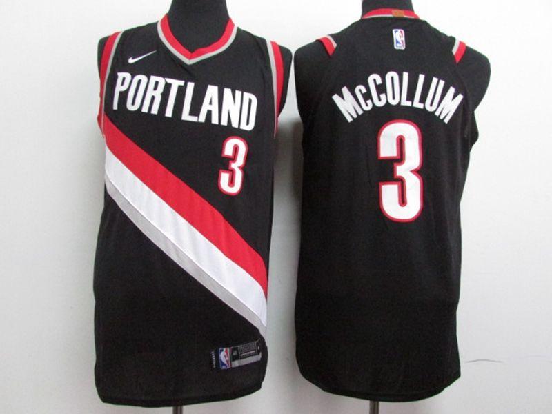 2017-18 New Nba Portland Trail Blazers #3 C.j. Mccollum Black Nike Jersey