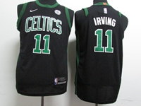 Youth 17-18 New Nba Golden State Warriors #11 Kyrie Irving Black Nike Jersey
