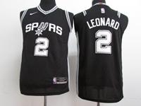 Youth 17-18 Nba San Antonio Spurs #2 Kawhi Leonard Black Nike Jersey