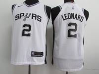 Youth 17-18 Nba San Antonio Spurs #2 Kawhi Leonard White Nike Jersey