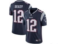 Mens New England Patriots #12 Tom Brady Blue Vapor Untouchable Limited Jersey